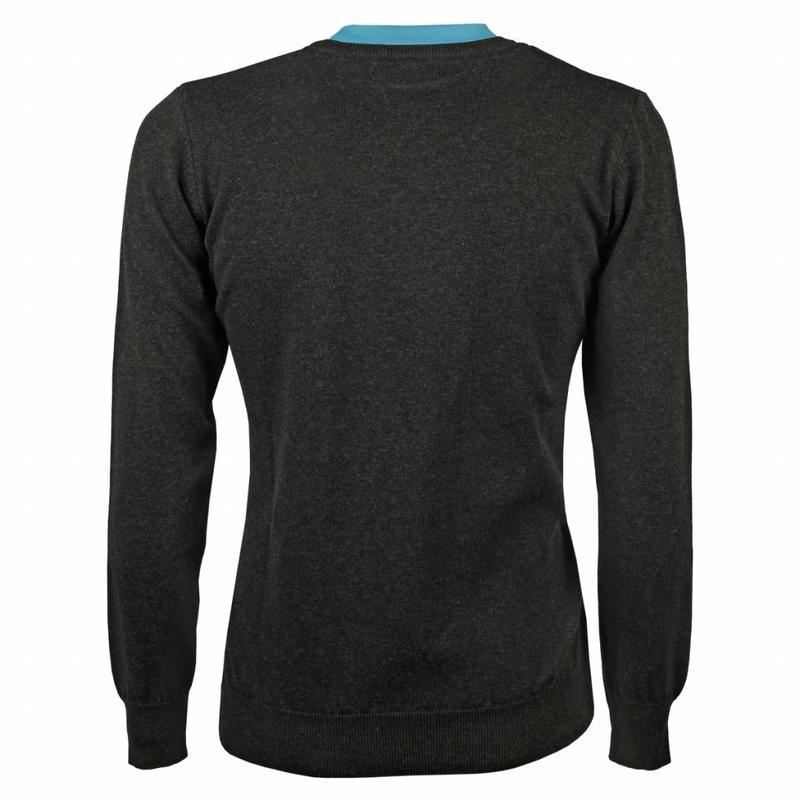 Q1905 Men's Pullover V-neck Marden Antracite