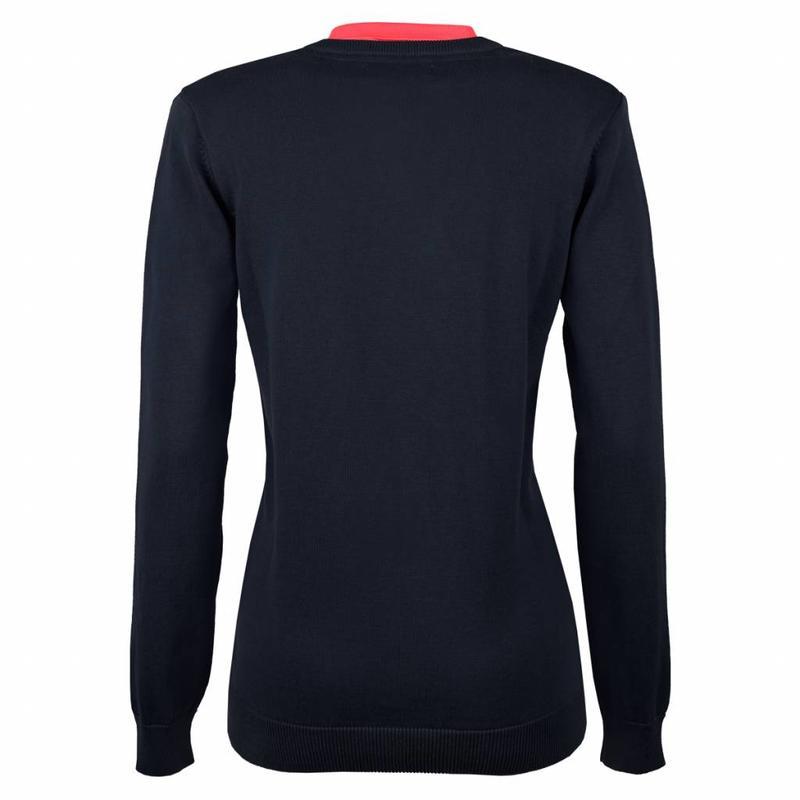 Women's Pullover V-neck Rosewood Deep Navy / Pink Navy