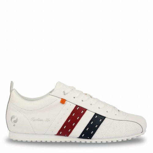 Heren Sneaker Typhoon SP White / Red-Deep Navy