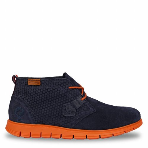 Heren Schoen Fabro Deep Navy / Orange