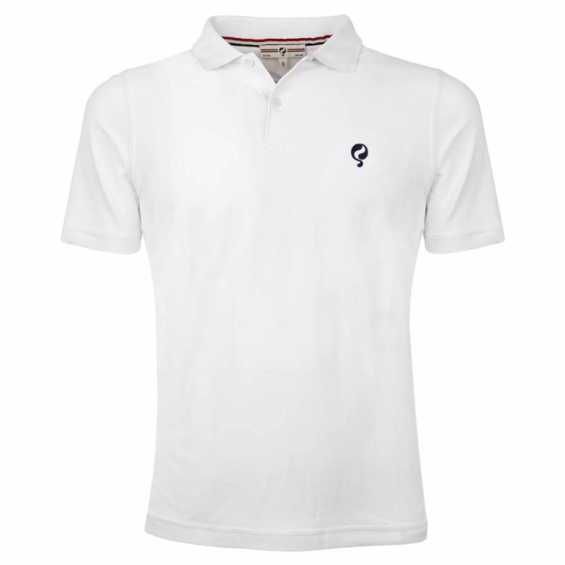 Men's Golf Polo JL Flag White