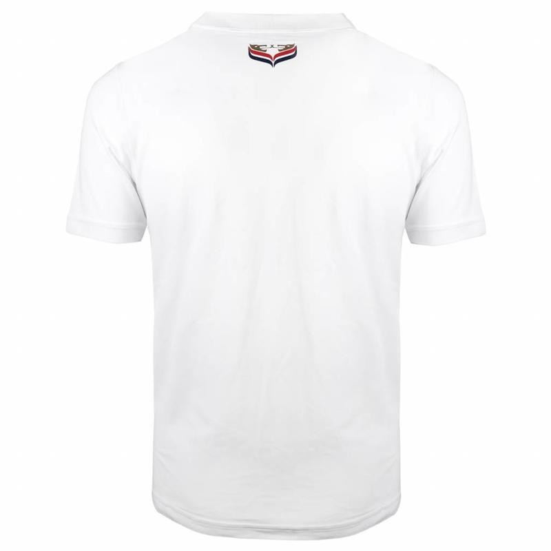 Men's Golf Polo JL Flag White