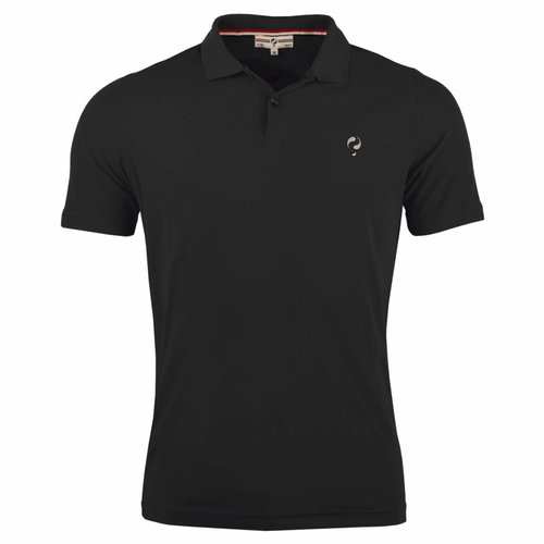 Men's Golf Polo JL Flag Black