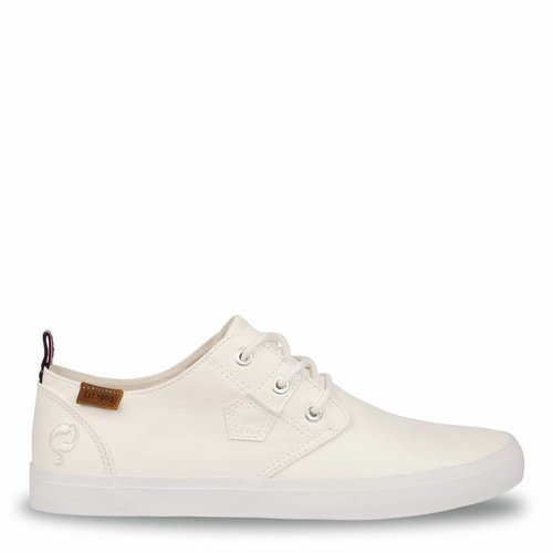 Heren Sneaker Elba White / Orange Lace