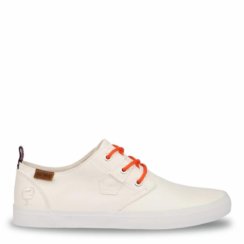 Men's Sneaker Elba White / Orange Lace