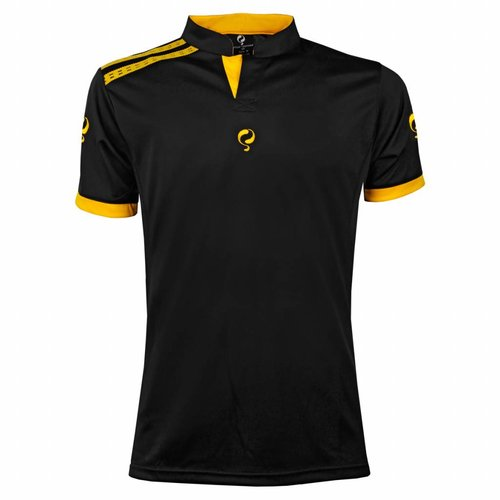 Heren Tennis Polo Rally Black / Yellow