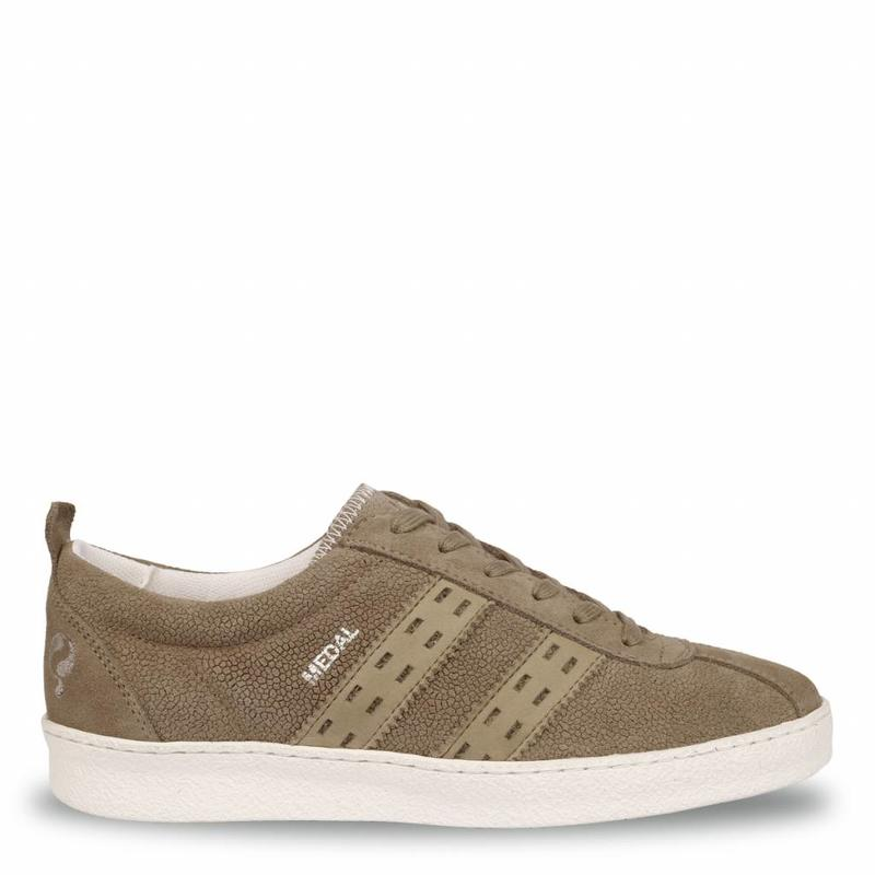 Q1905 Women's Sneaker Medal Lady Taupe Grey