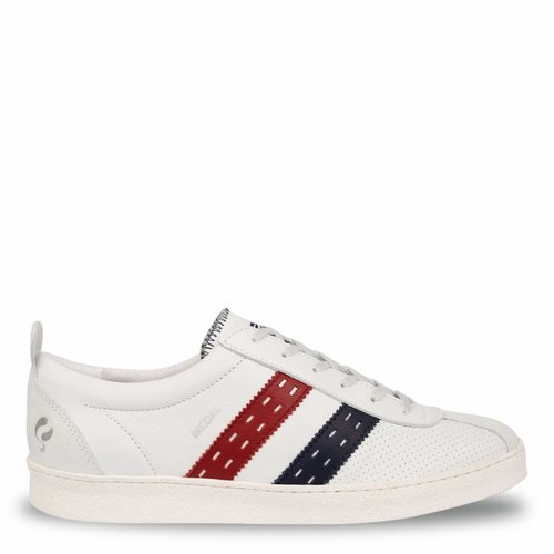Heren Sneaker Medal White / Red-Navy