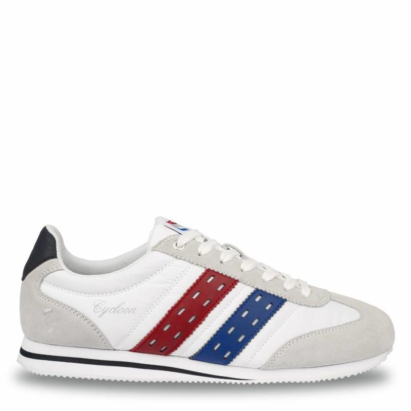 Heren Sneaker Cycloon White / Ice-Red-Skydiver