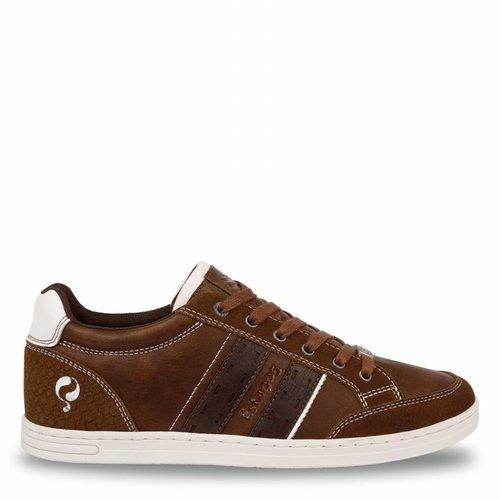 Heren Sneaker Brody Cognac / Dk Brown