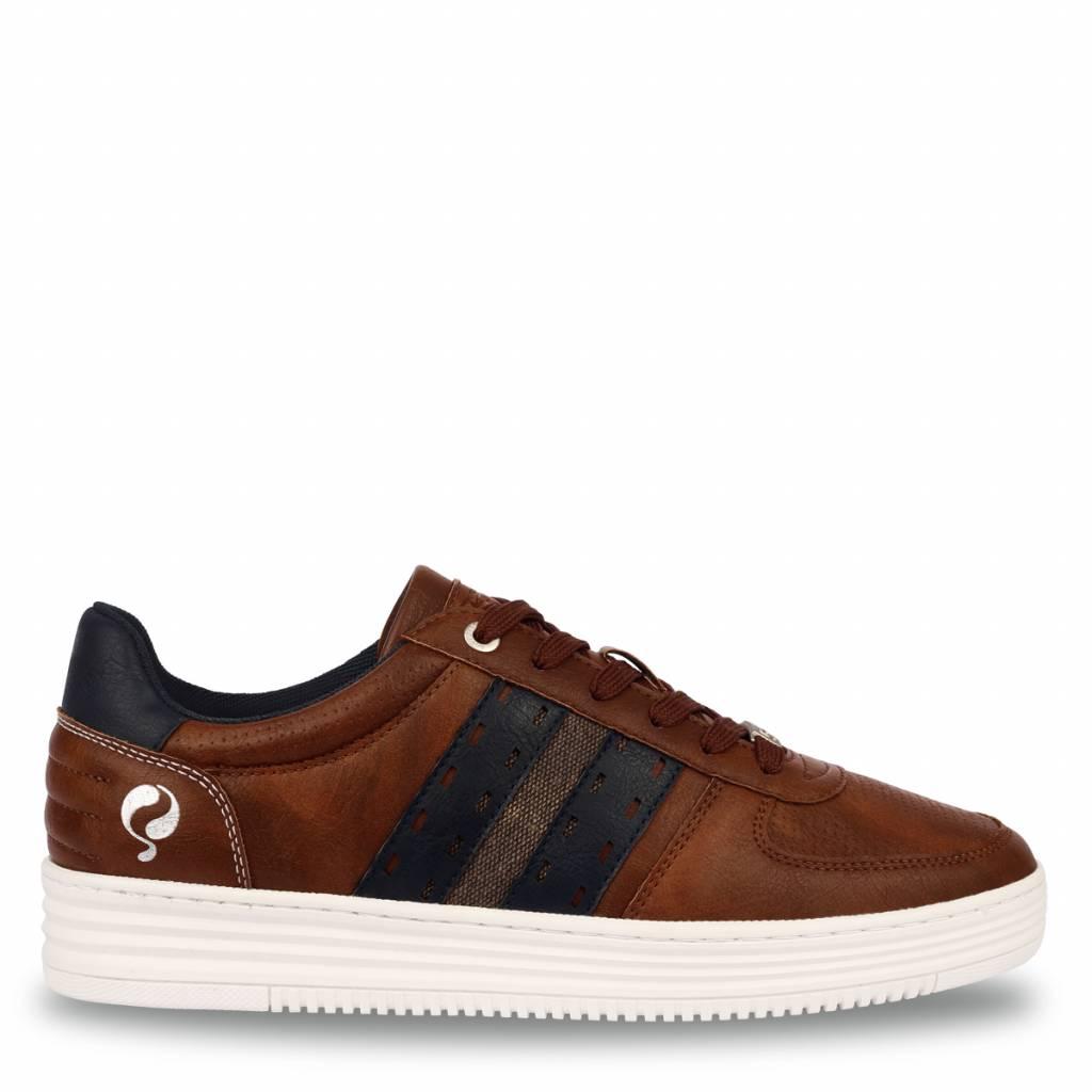 Q1905 Heren Sneaker Colton Cognac - Deep Navy
