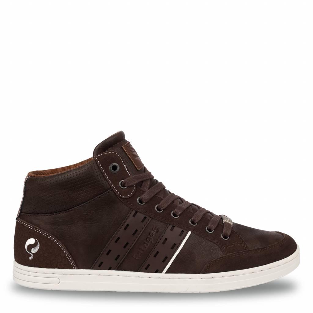 Image of Heren Sneaker Bryce Dk Brown / Cognac
