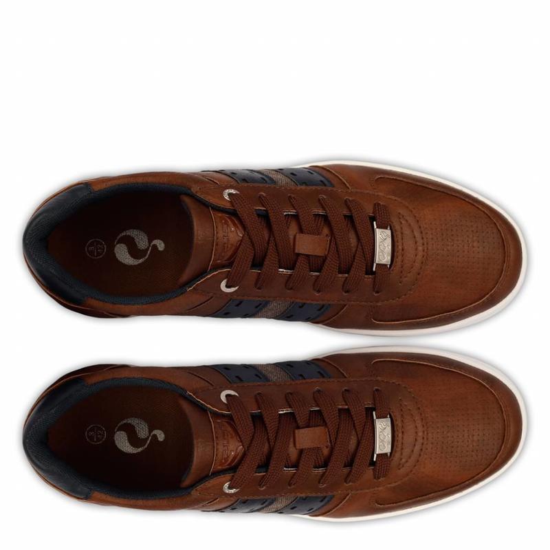 Heren Sneaker Colton Cognac / Deep Navy