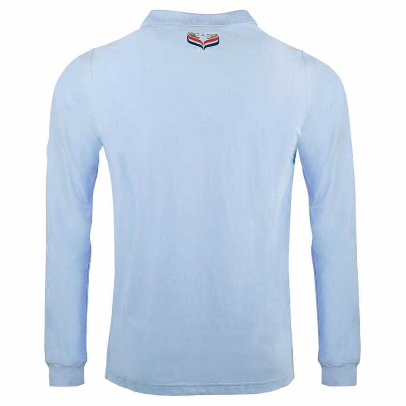 Heren Longsleeve Polo JL High Lt Azul