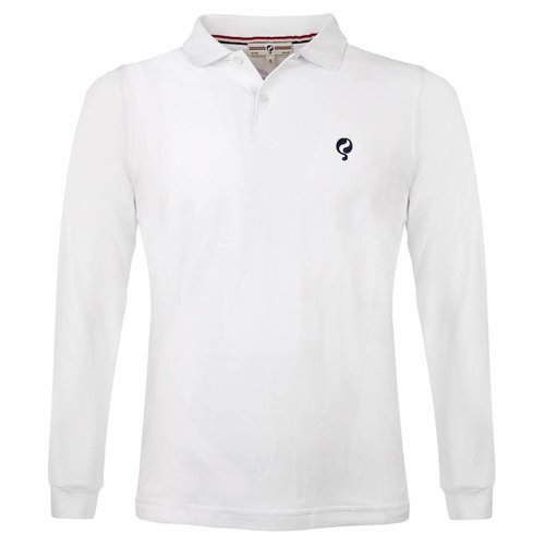 Heren Longsleeve Polo JL High White