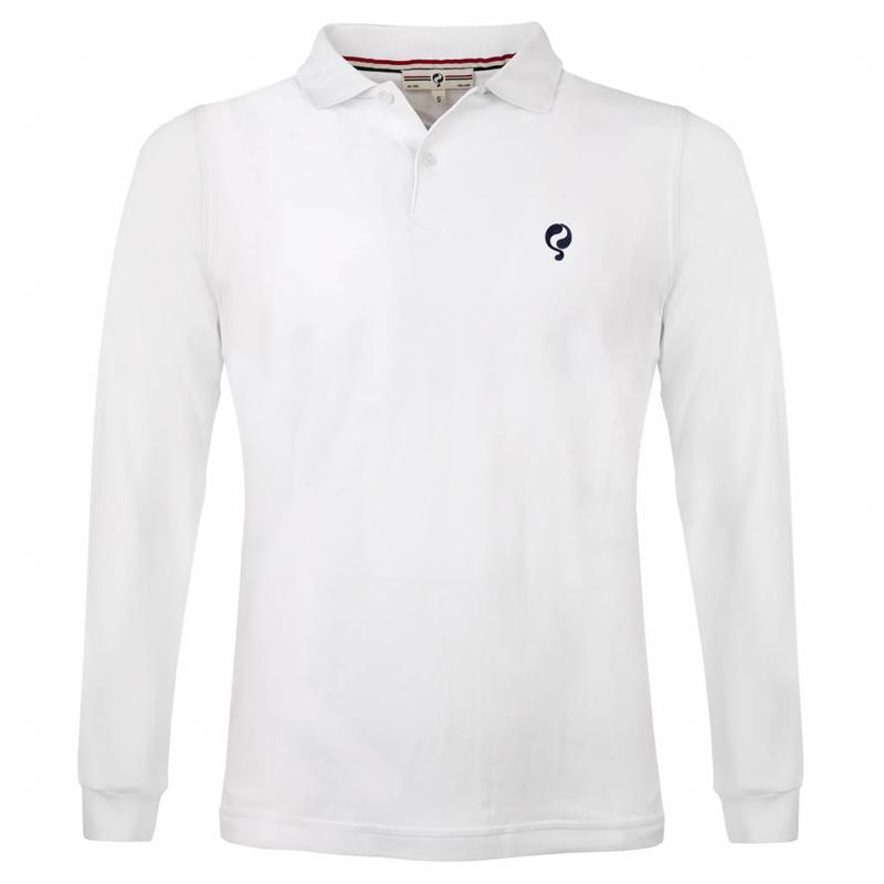 Heren Longsleeve Polo JL High White
