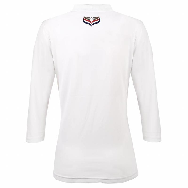 Dames Driekwart Polo Distance White