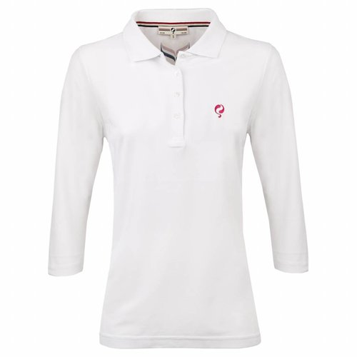 Dames Driekwart Polo Distance White