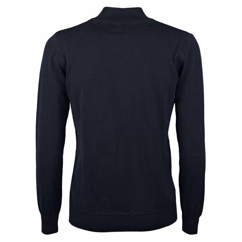 Heren Pullover Half Zip Stoke Deep Navy