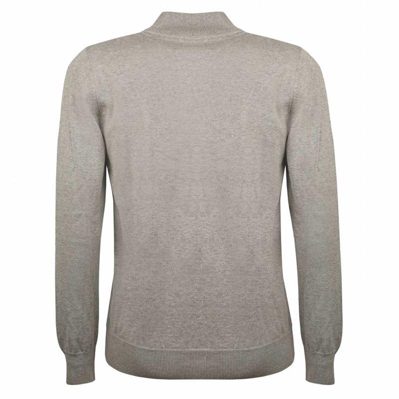 Heren Pullover Half Zip Stoke Light Grey Silver / Orange