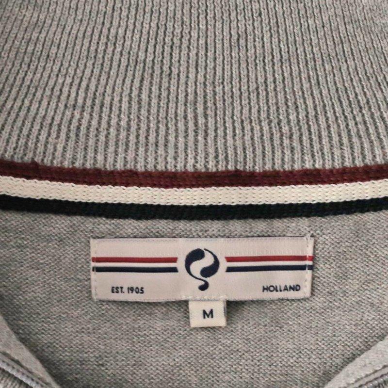 Men's Pullover Half Zip Stoke Light Grey Silver / Orange