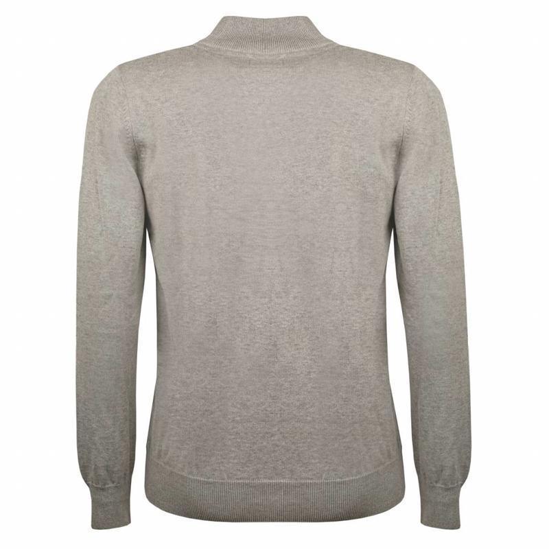 Heren Pullover Half Zip Stoke Light Grey Navy