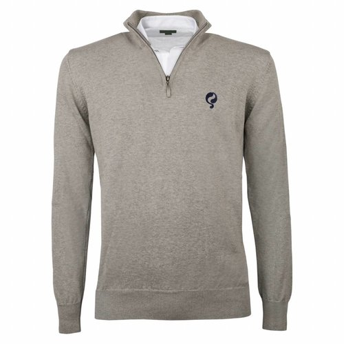 Heren Pullover Half Zip Stoke Light Grey Navy