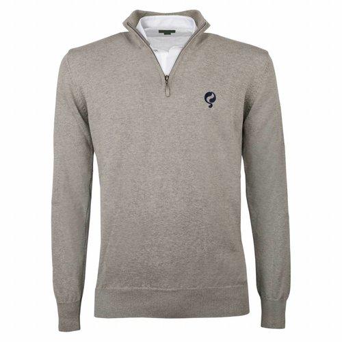 Men's Pullover Half Zip Stoke Light Grey Navy