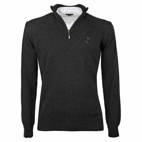 Heren Pullover Half Zip Stoke Antracite Black / Silver