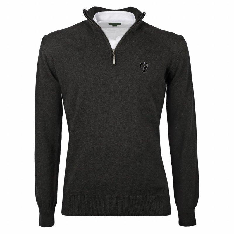 Men's Pullover Half Zip Stoke Antracite Black / Silver