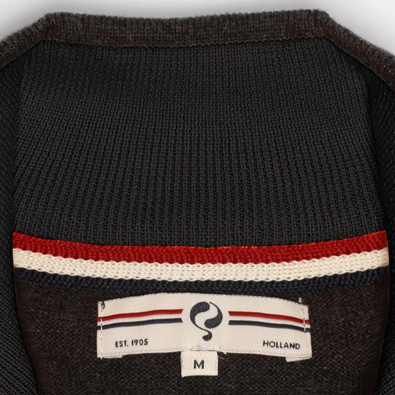 Heren Pullover Half Zip Stoke Antracite Black / Gold