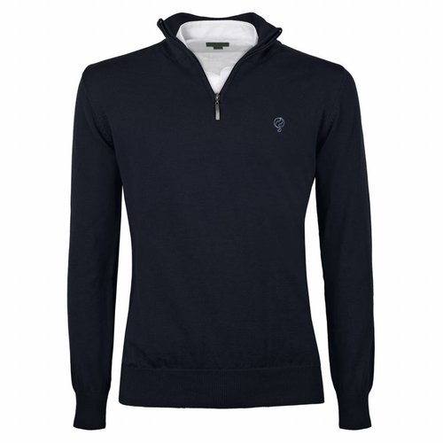 Men's Pullover Half Zip Stoke Deep Navy Navy / Lt Blue