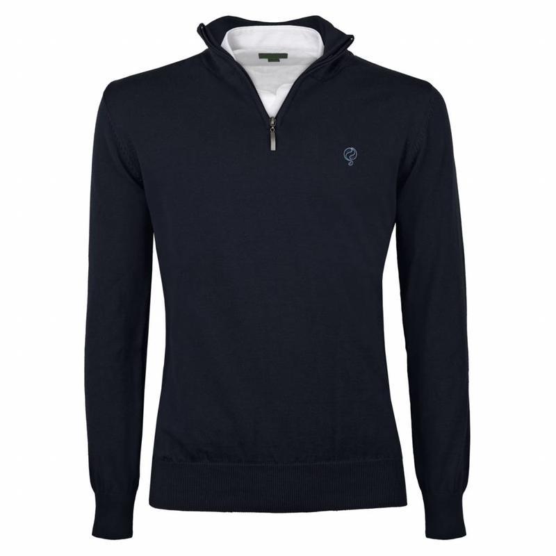 Men's Pullover Half Zip Stoke Deep Navy Navy / Lt Blue