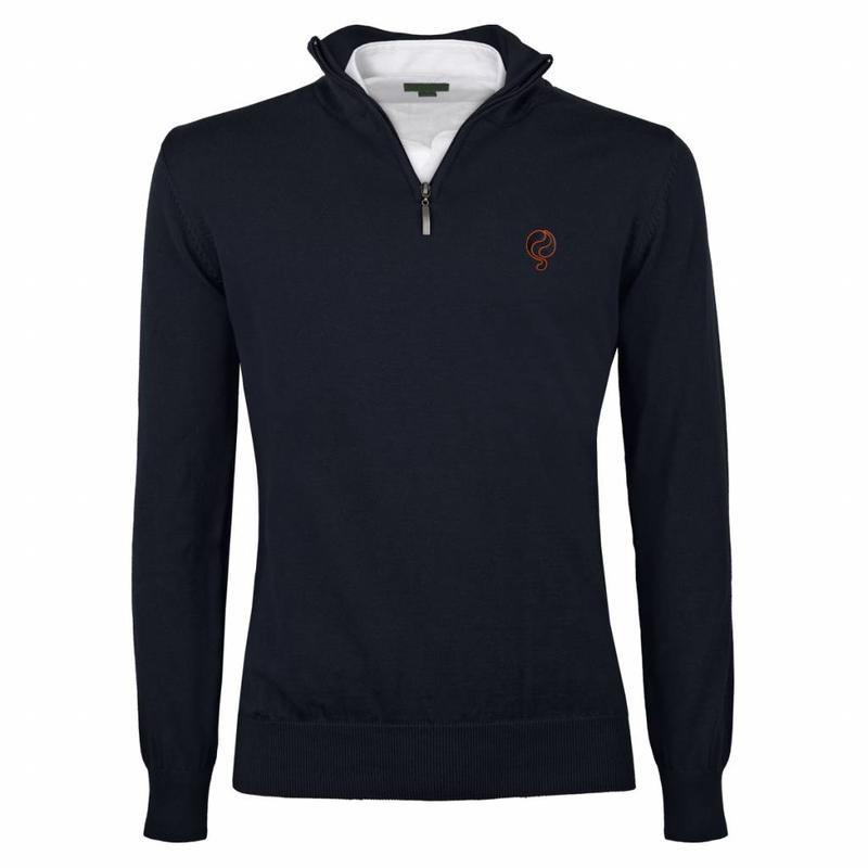Men's Pullover Half Zip Stoke Deep Navy Navy / Orange