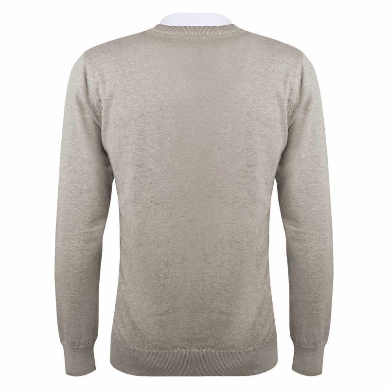 Heren Pullover V-neck Marden Light Grey Skydiver / Silver