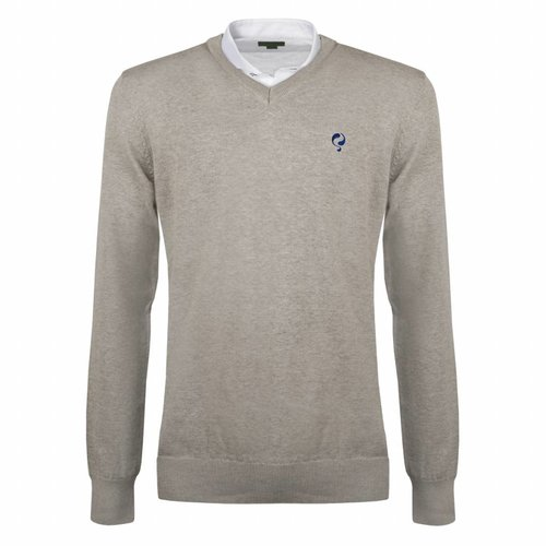 Heren Pullover V-neck Marden Light Grey Skydiver / Silver