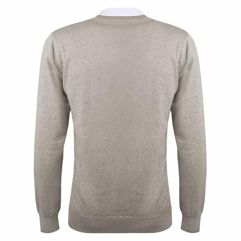 Men's Pullover V-neck Marden Light Grey Silver / Black