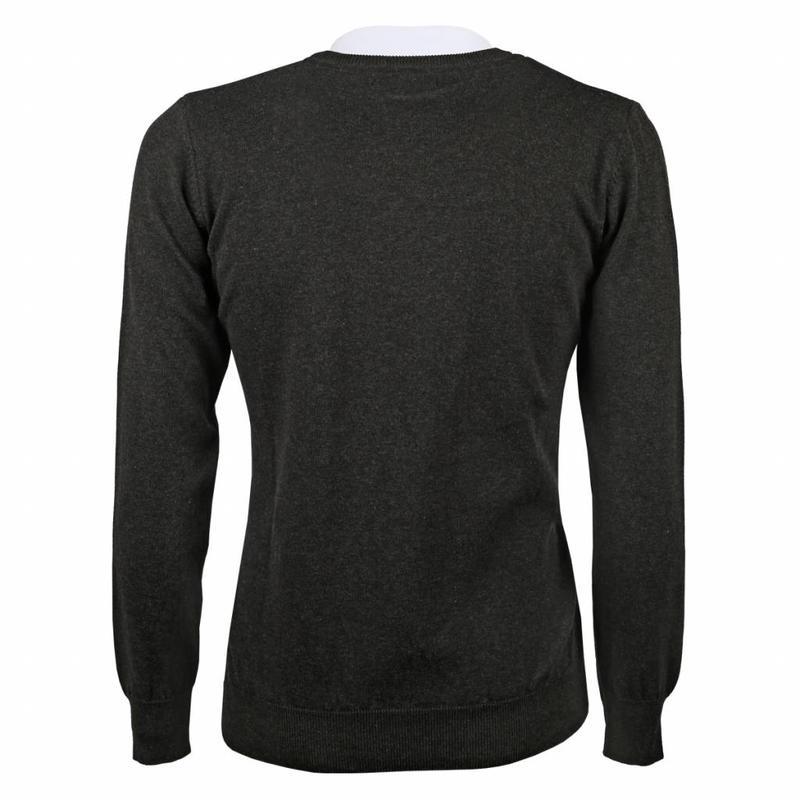 Q1905 Men's Pullover V-neck Marden Antracite Black / Silver