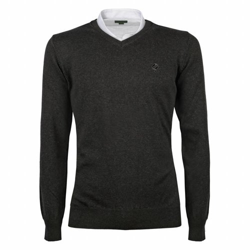 Men's Pullover V-neck Marden Antracite Black / Silver