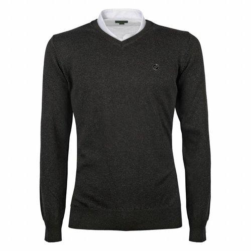 Heren Pullover V-neck Marden Antracite Black / Silver