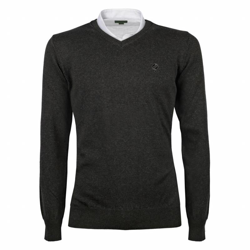 Heren Pullover V-neck Marden Antracite Black / Silver