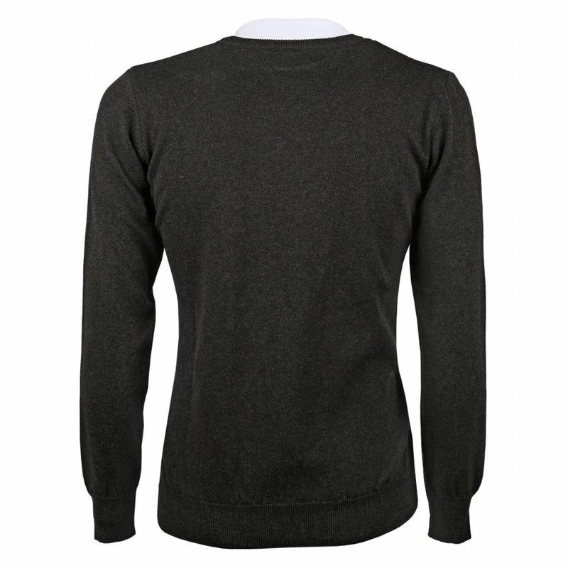 Men's Pullover V-neck Marden Antracite Orange / Silver