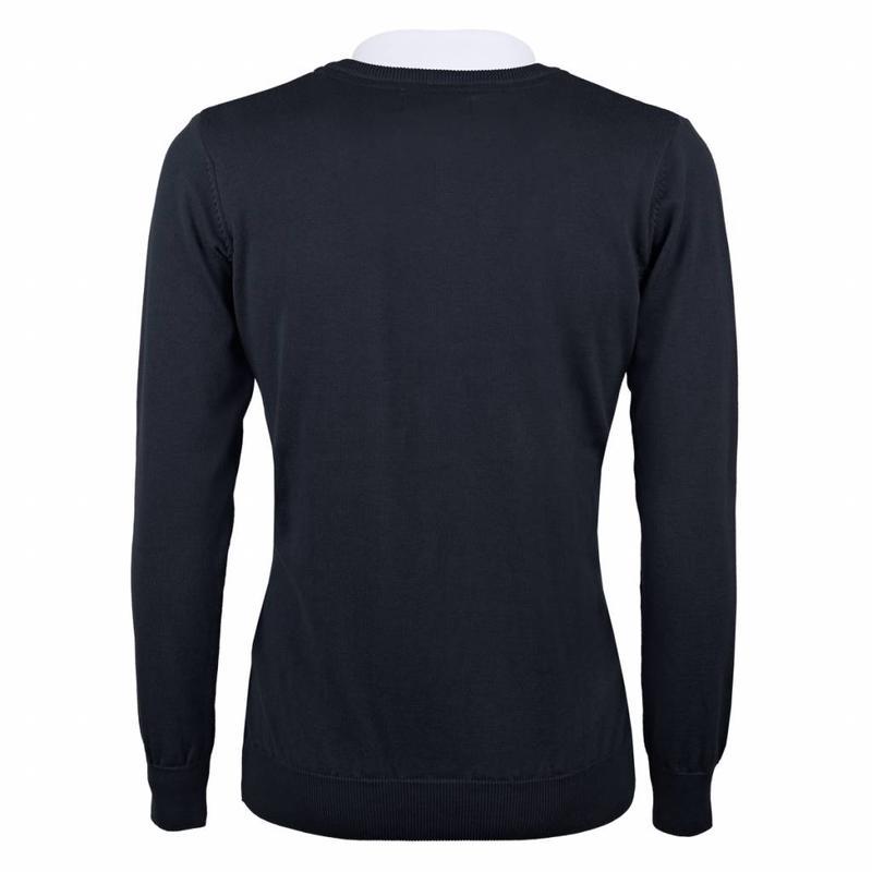 Q1905 Men's Pullover V-neck Marden Deep Navy Navy / Lt Blue