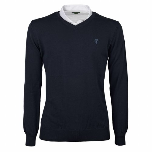 Men's Pullover V-neck Marden Deep Navy Navy / Lt Blue