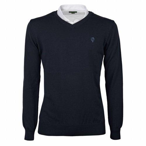 Men's Pullover V-neck Marden Deep Navy Navy / Lt Blue