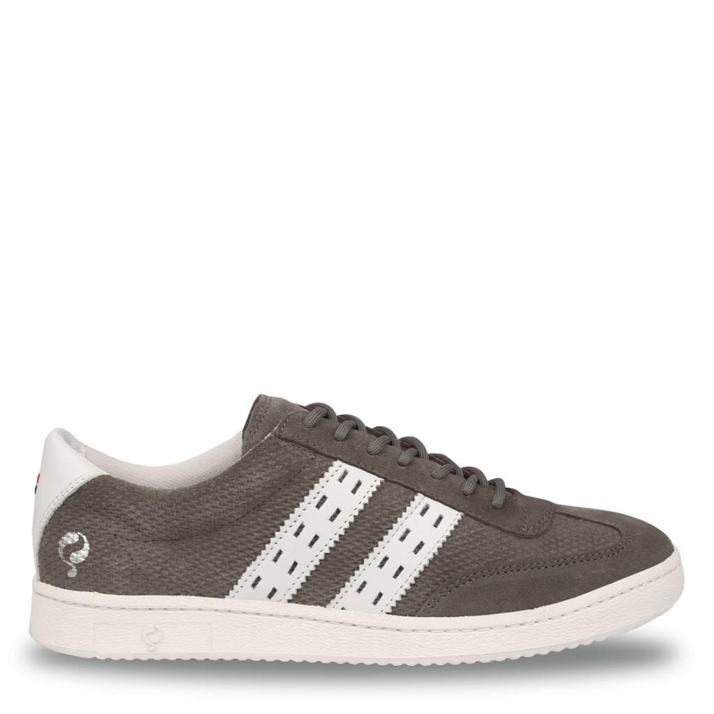 Q1905 Heren Sneaker Legend '69 Stone Grey - White