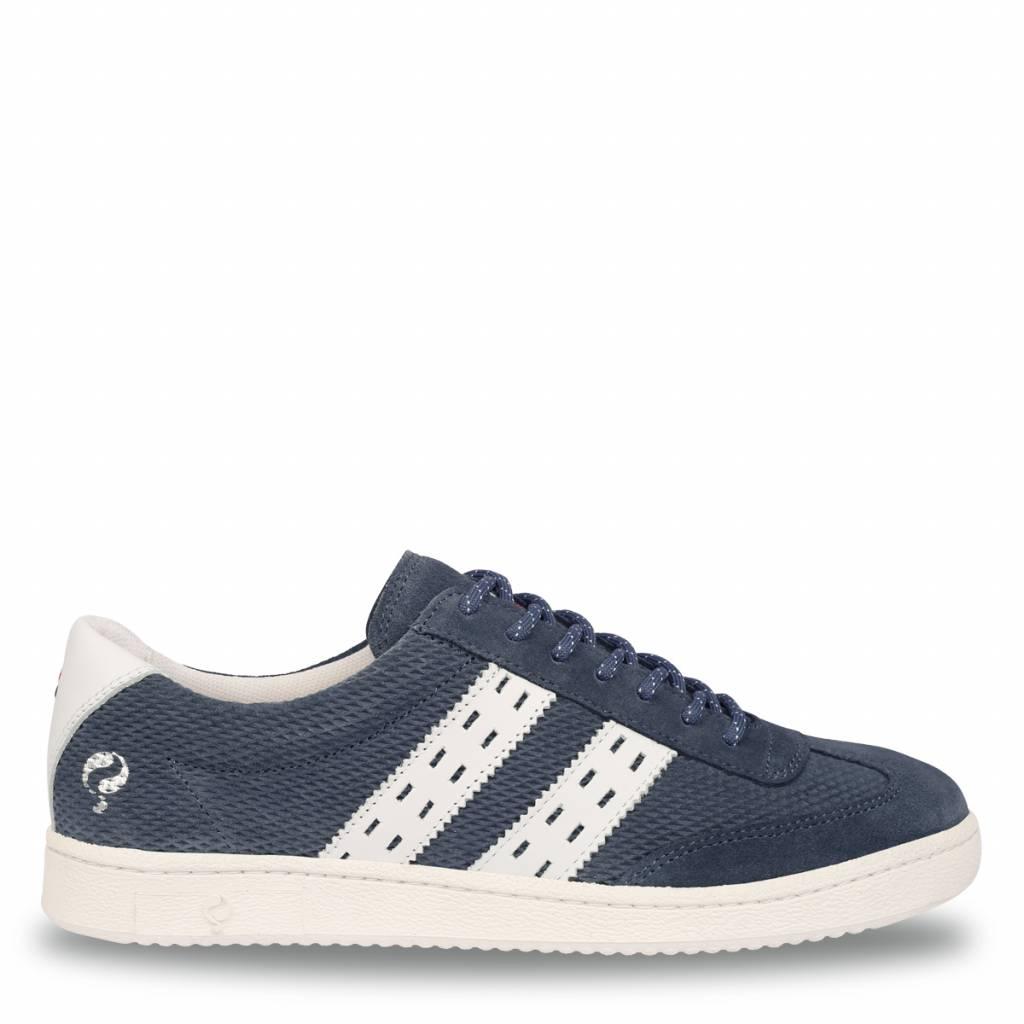Q1905 Heren Sneaker Legend '69 Jeans Blue - White