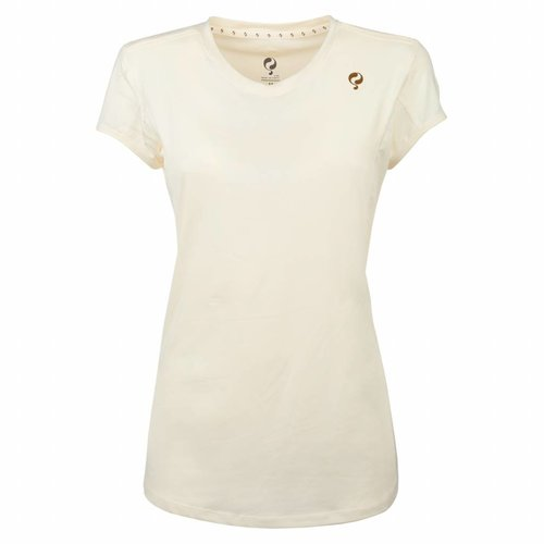 Dames Tee Brush mesh Q Snow White