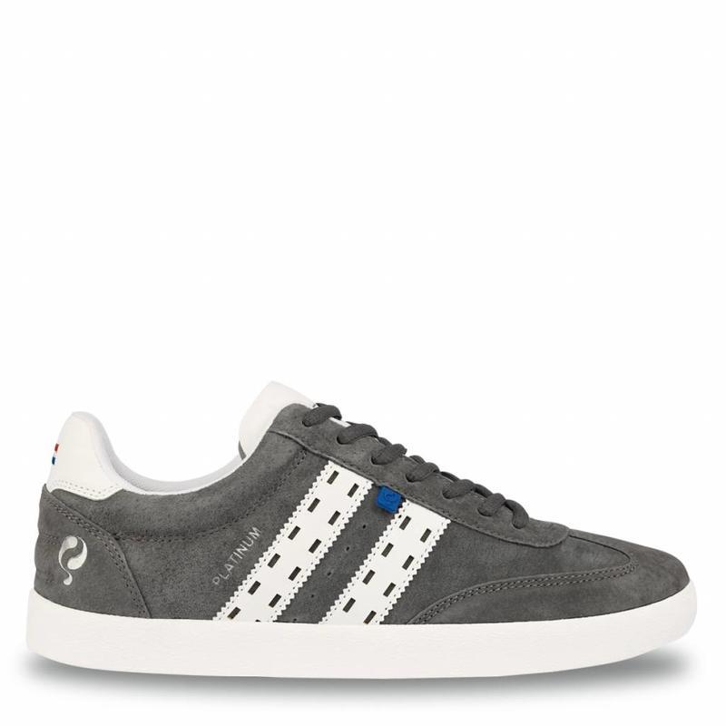 Heren Sneaker Platinum Dk Grey / White