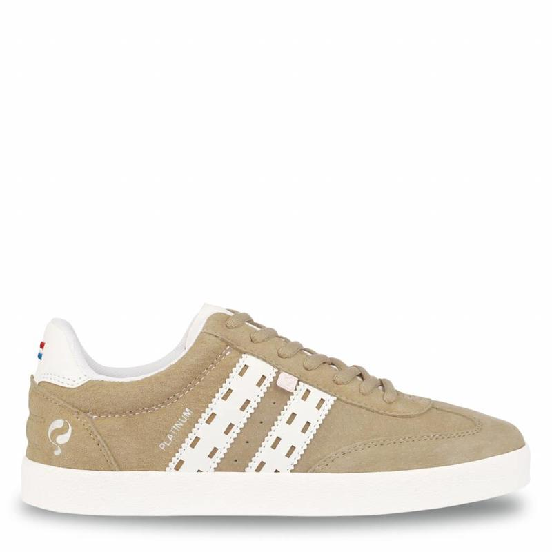 Dames Sneaker Platinum Lady Taupe / White